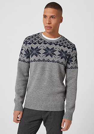 Jumper with a Norwegian pattern from s.Oliver