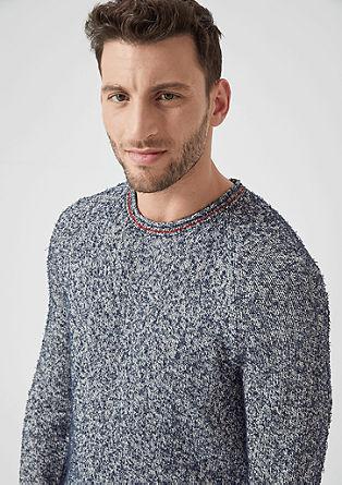 Pleten pulover iz efektne preje