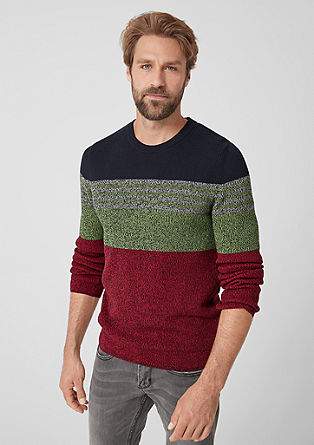 Knit jumper with colour blocking from s.Oliver