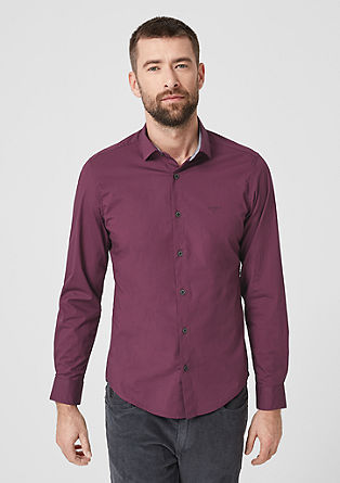 Slim: Elegant stretch shirt from s.Oliver