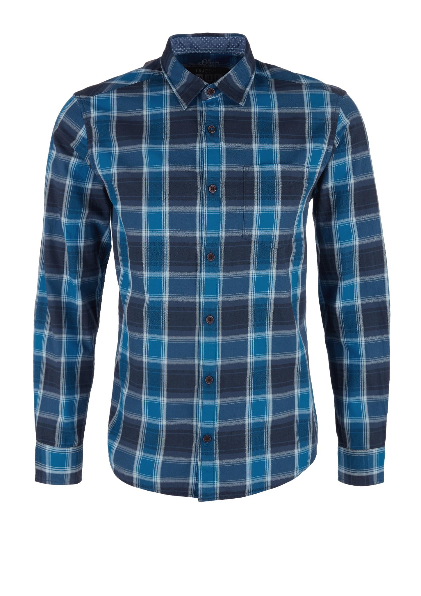 Karohemd   Bekleidung > Hemden   Blau   100% baumwolle   s.Oliver