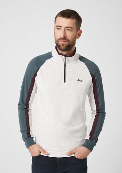 Athleisure-Shirt mit Zipper
