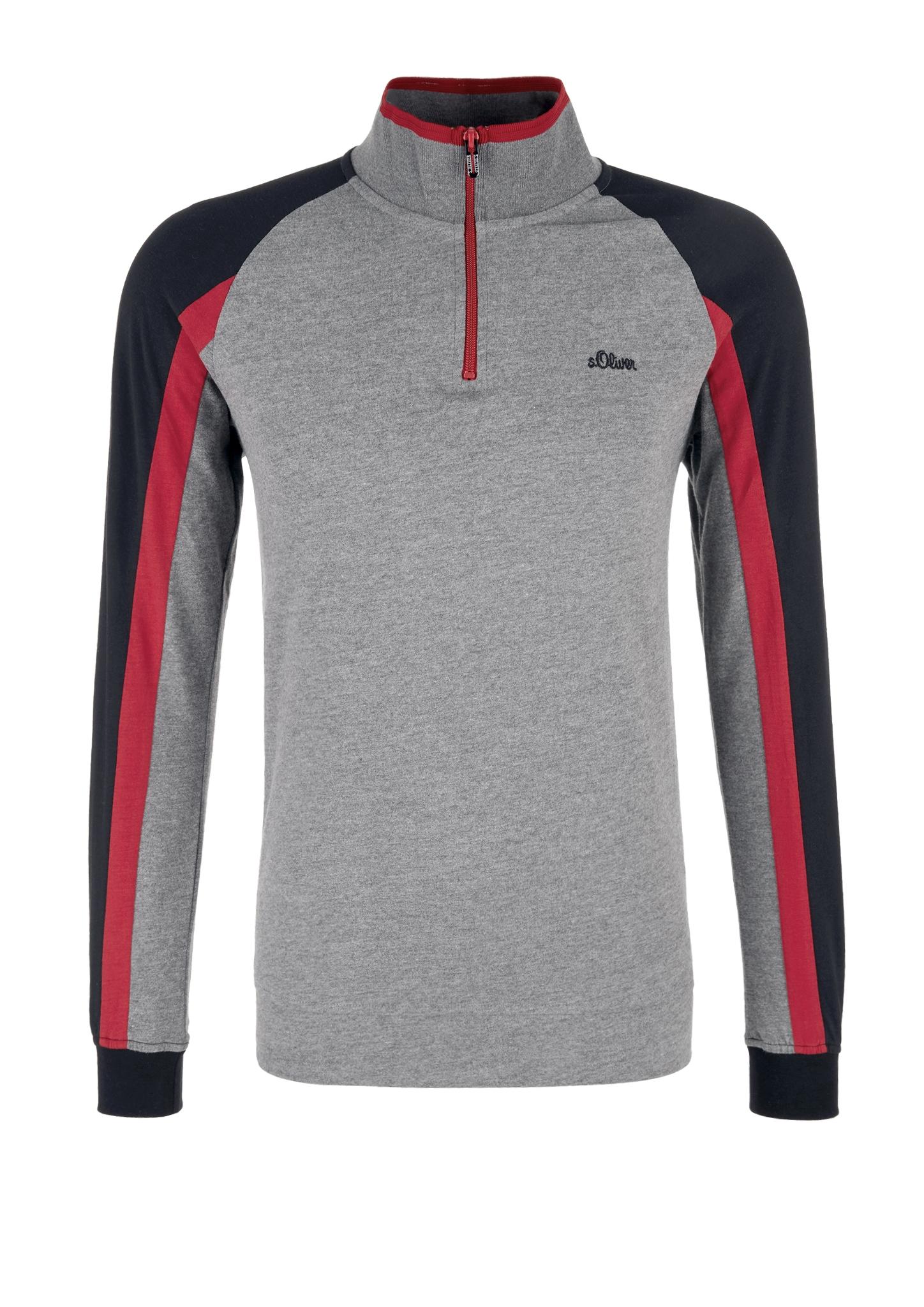 Langarmshirt   Bekleidung > Shirts > Langarm Shirts   Grau/schwarz   Oberstoff: 60% baumwolle -  40% polyester  kragen: 57% baumwolle -  43% polyester  bund 95% baumwolle -  5% elasthan   s.Oliver