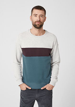 Sweatshirt im Colourblock-Look