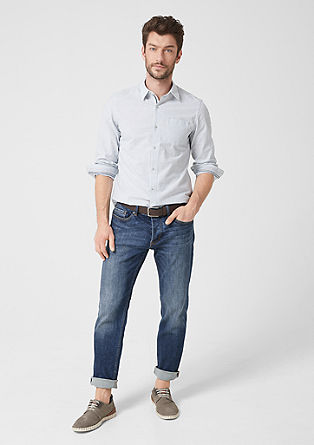 Tubx Regular: jeans with a button placket from s.Oliver