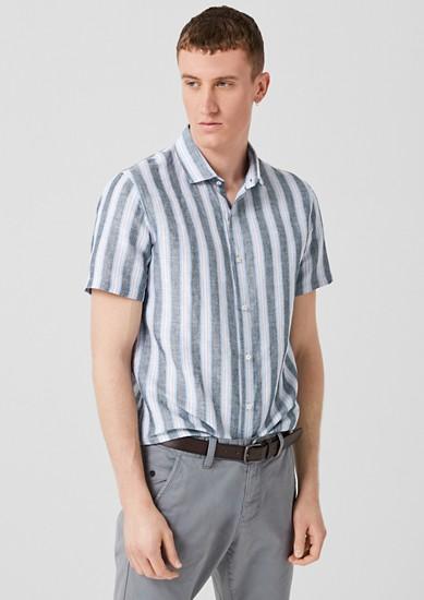 Slim: chemise rayée en lin mélangé de s.Oliver