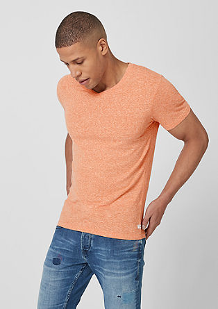 Slim: Meliertes V-Neck-Shirt