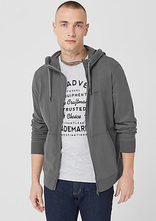 Lightweight hooded sweatshirt jacket from s.Oliver