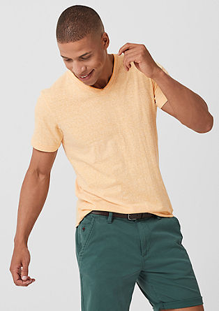Meliertes Shirt mit Ministripes