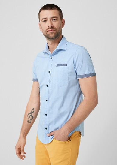 Slim: chemise à manches courtes et motif de s.Oliver