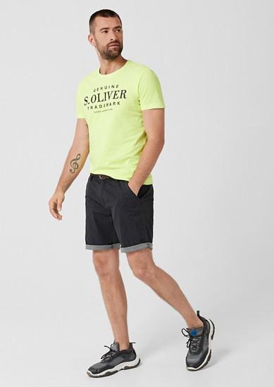 Jerseyshirt mit Label-Print