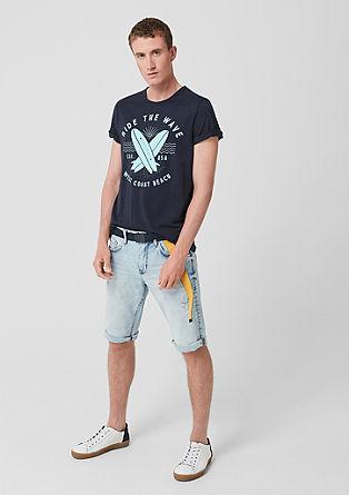 Jersey shirt met casual print