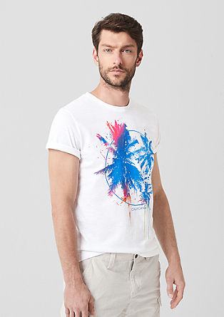 Flammgarnshirt mit Print-Design