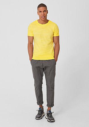 Slim: T-Shirt mit Garment Dye-Effekt