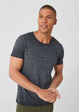 Slim: T-shirt met een garment-dyed effect