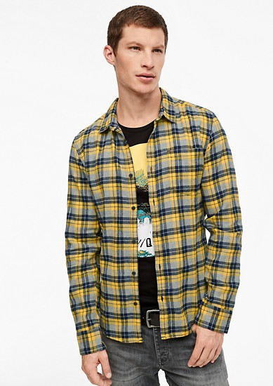 Extra slim: geruit katoenen overhemd