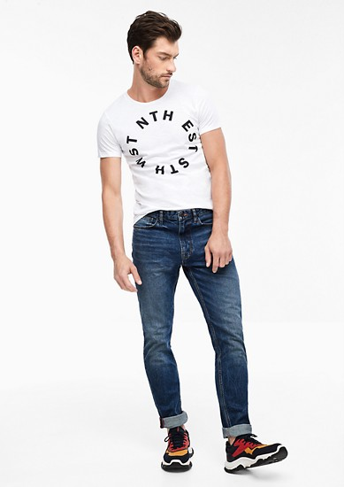 T-shirt with a lettered print from s.Oliver