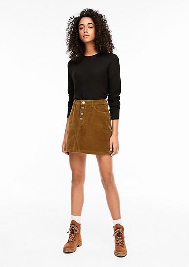 manšestrová sukně s knoflíky