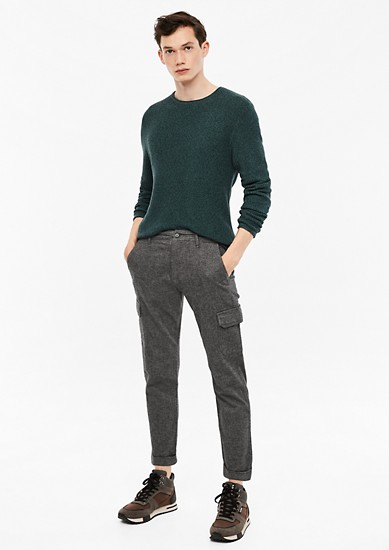 Elroy Slim: herringbone trousers from s.Oliver