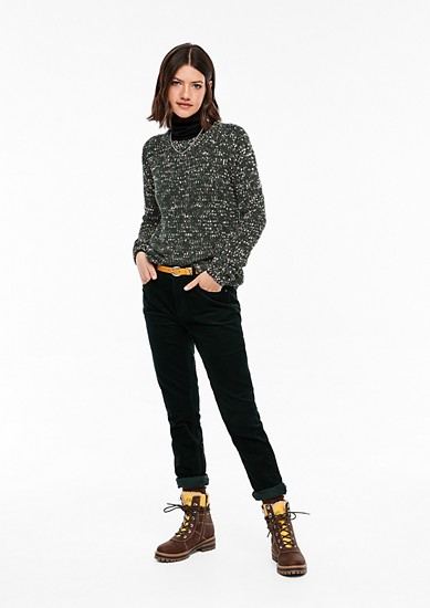 Knitted jumper in a mottled look from s.Oliver