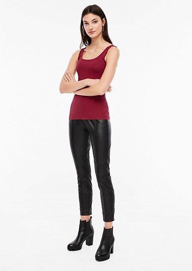 Basic jersey tank top from s.Oliver