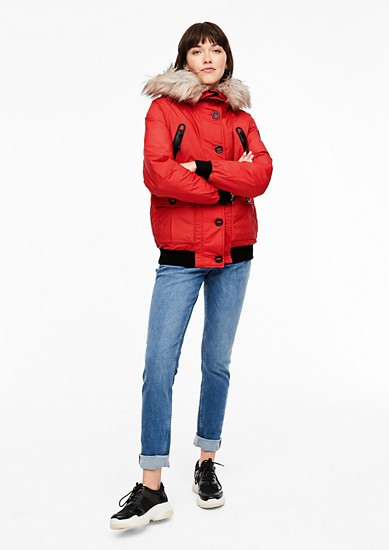 Puffer jacket with ribbed cuffs from s.Oliver
