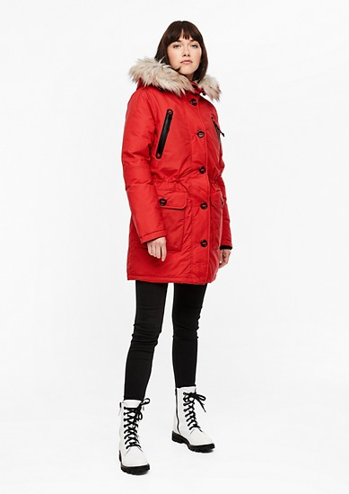 Puffer Coat mit Fake Fur