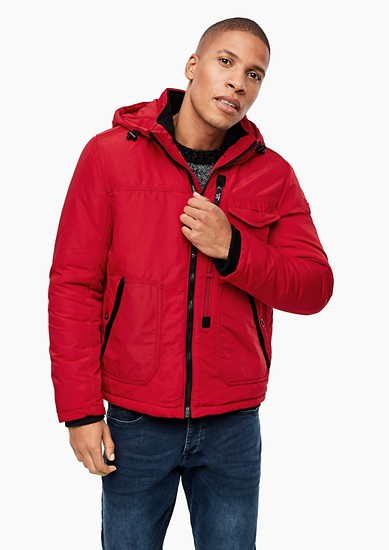 Outdoor jacket with fleece lining from s.Oliver
