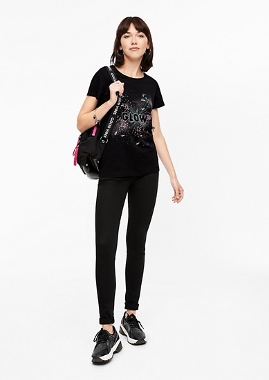 T-shirt met statement print