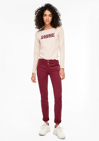 Catie Slim: coloured jeans from s.Oliver