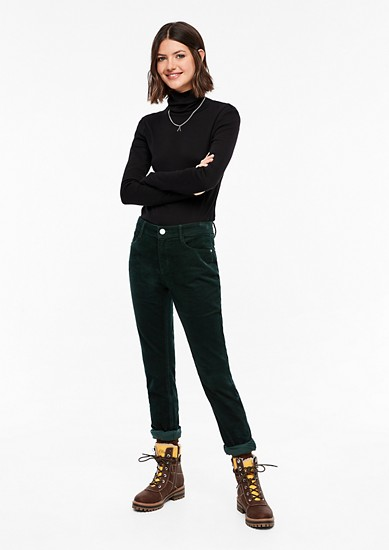 Catie Slim: Corduroy trousers from s.Oliver