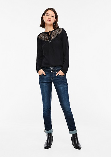 Long sleeve blouse with crocheted lace from s.Oliver