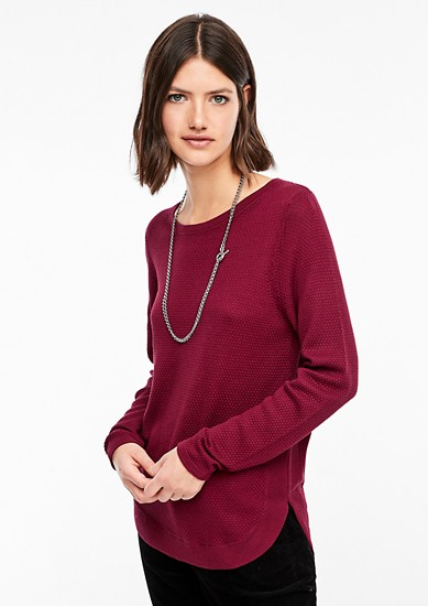 Long textured knit jumper from s.Oliver