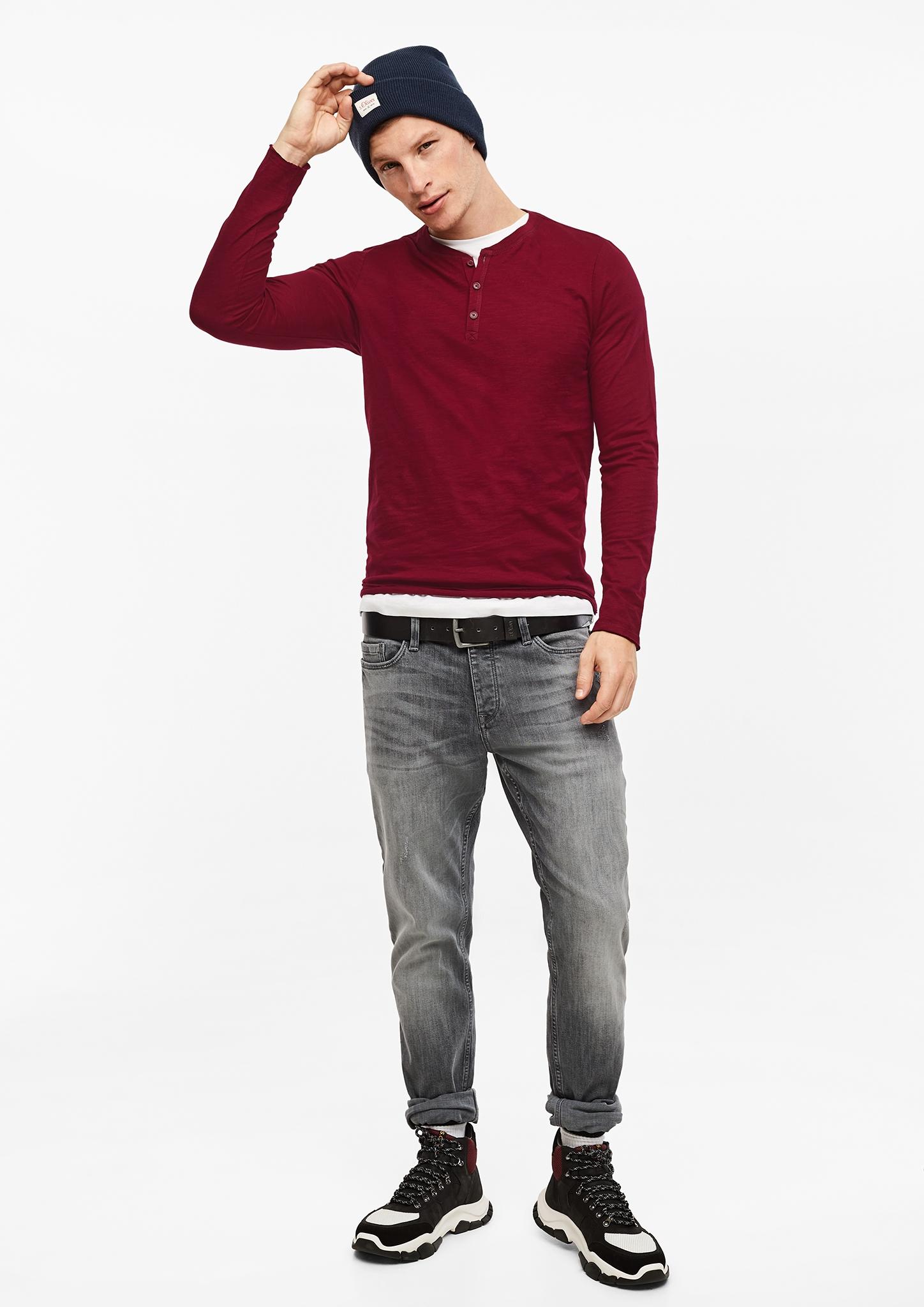 Q-S-designed-by-Denim-Men-vertikal-Henleyshirt-aus-Flammgarn-Neu Indexbild 8