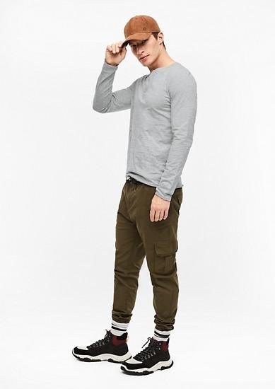 Henley shirt van slubgaren