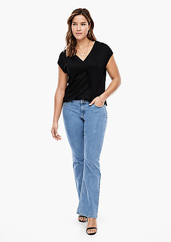 Slim Fit: Flared leg-Jeans