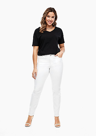 Slim Fit: Slim leg-Jeans in Unicolor