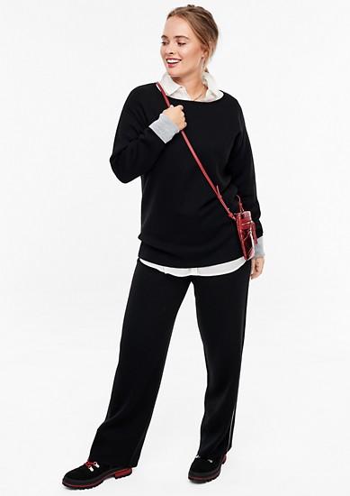 Pullover aus Doubleface-Strick