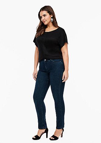 Slim Fit: Slim leg-Denim aus elastischer Qualität