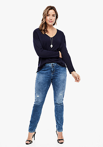 Relaxed Fit: Tapered leg-Jeans