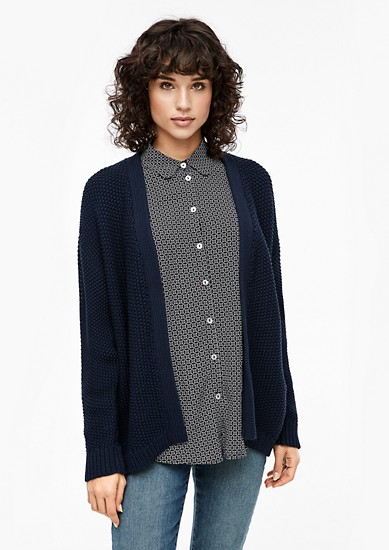 Crochet-look cardigan from s.Oliver