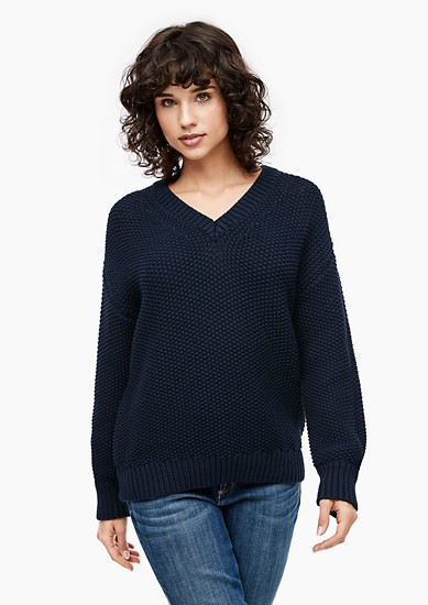 Crochet-look jumper from s.Oliver