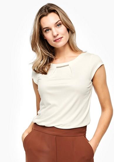 Viscose shirt met een sierlijk detail
