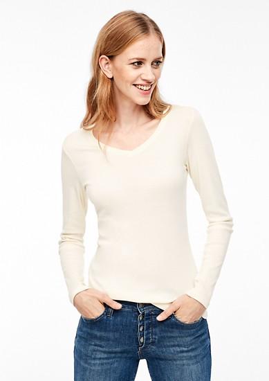 Jerseyshirt aus Baumwollripp