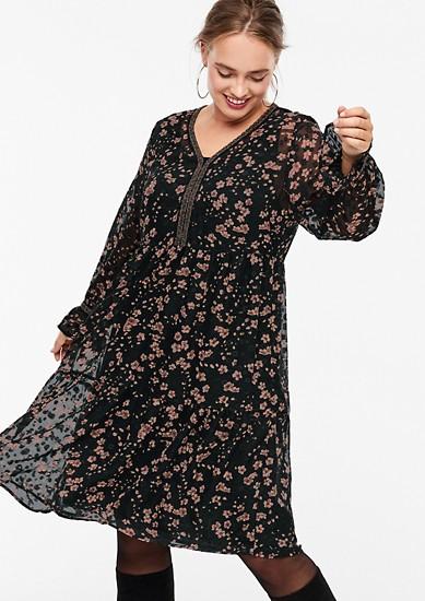 Robe en chiffon brodée superposée de s.Oliver