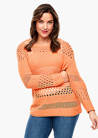 Pullover mit Ajour-Strickmuster