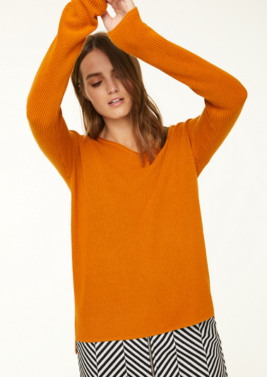 Pullover aus Perlstrick