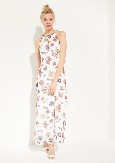 Patterned chiffon maxi dress from comma