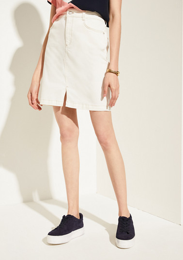 Twill denim skirt from comma