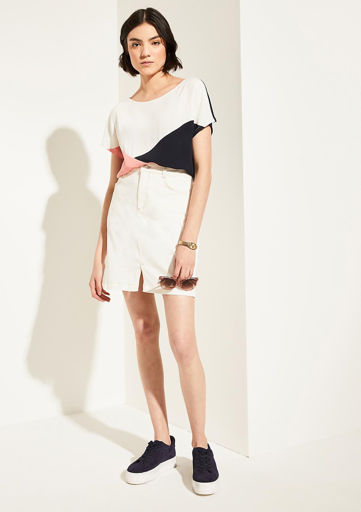 Twill denim skirt from comma